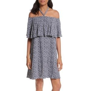 Rebecca Minkoff Havasu Off Shoulder Halter Dress 8